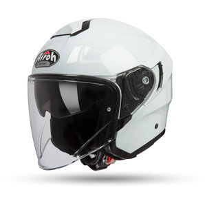Airoh Hunter Color White Gloss Jethelm Weiss Uni