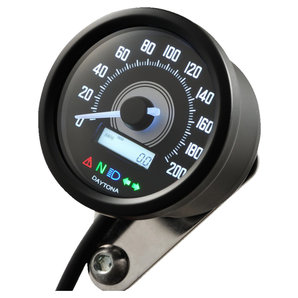 Daytona Velona 60 Tachometer 200 km-h schwarz Corporation