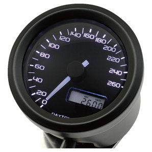 Daytona Velona48 Tachometer 260 km-h schwarz Corporation