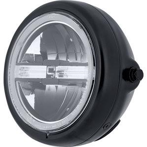 gazzini LED Scheinwerfer mit Tagfahrlicht- Schwarz