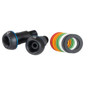 gazzini Lenkerenden- konisch Schwarz- Alu- mit farbigen Ringen
