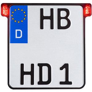 HeinzBikes Kennzeichenhalter All-In-One 2-0- mit Rücklicht-Bremslicht
