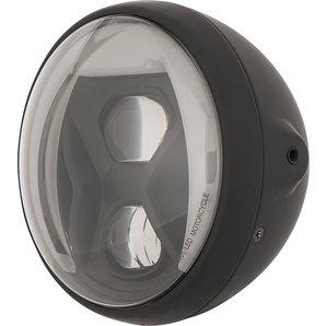 HIGHSIDER LED Scheinwerfer inkl- Kurvenlicht British Style Schwarz Highsider