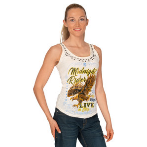 Lethal Angel Midnight Rider Tank Top Weiss
