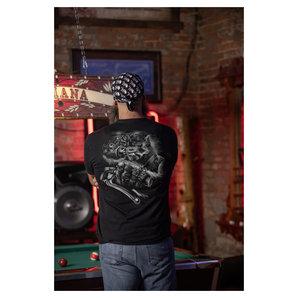 Lethal Threat Gorilla Biker T-Shirt Schwarz