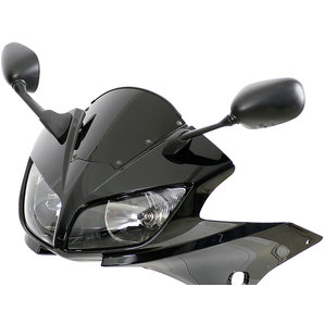 MRA Sportscheibe- schwarz mit Haltesatz und ABE