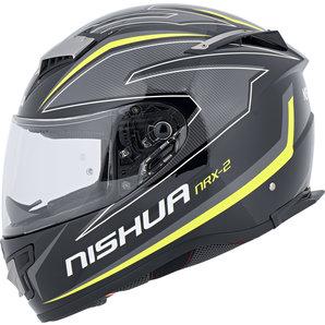 Nishua NRX-2 Integralhelm Schwarz Grau Neon Gelb NISHUA