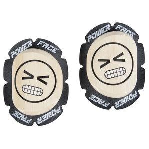 Powerface Knieschleifer Louis Special aus Holz- mit Aufdruck- Paar PowerFace