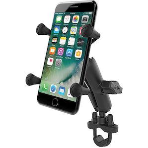 RAM Mounts Lenkerhalterung mit X-Grip u- Verbindungsarm für normale Smartphones