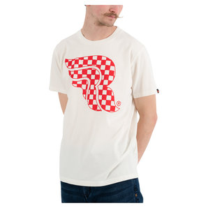 Riding Culture Checkerboard T-Shirt Weiss