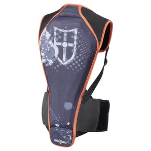Super Shield Kids Rückenprotektor Schwarz Orange