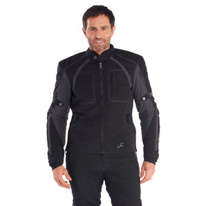 Vanucci HiRider III Textiljacke Schwarz Grau