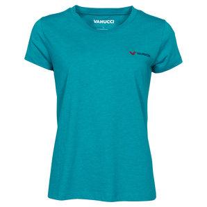 Vanucci Logo-Tee Damen T-Shirt T�rkis